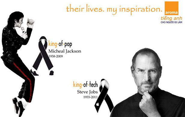Micheal Jackson - King of Pop. Steve Jobs - King of Tech