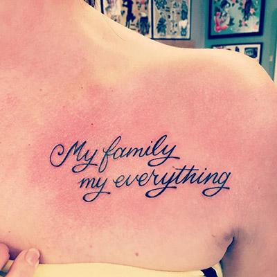 Фото фраз татуировок женские