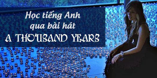 hoc tieng anh qua bai hat A thousand years