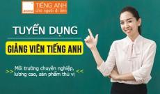 Tuyển dụng giảng viên tiếng Anh tại Hồ Chí Minh