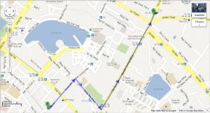 Bản đồ từ cơ sở cũ đến cơ sở mới