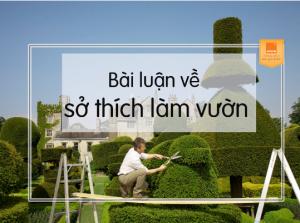 bài luận tiếng anh sở thích làm vườn
