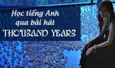 hoc tieng anh qua bai hat A thousand years